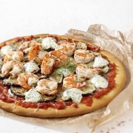 143. Pizza scampi